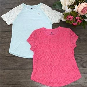 Two short sleeve t shirts from Abercrombie kids